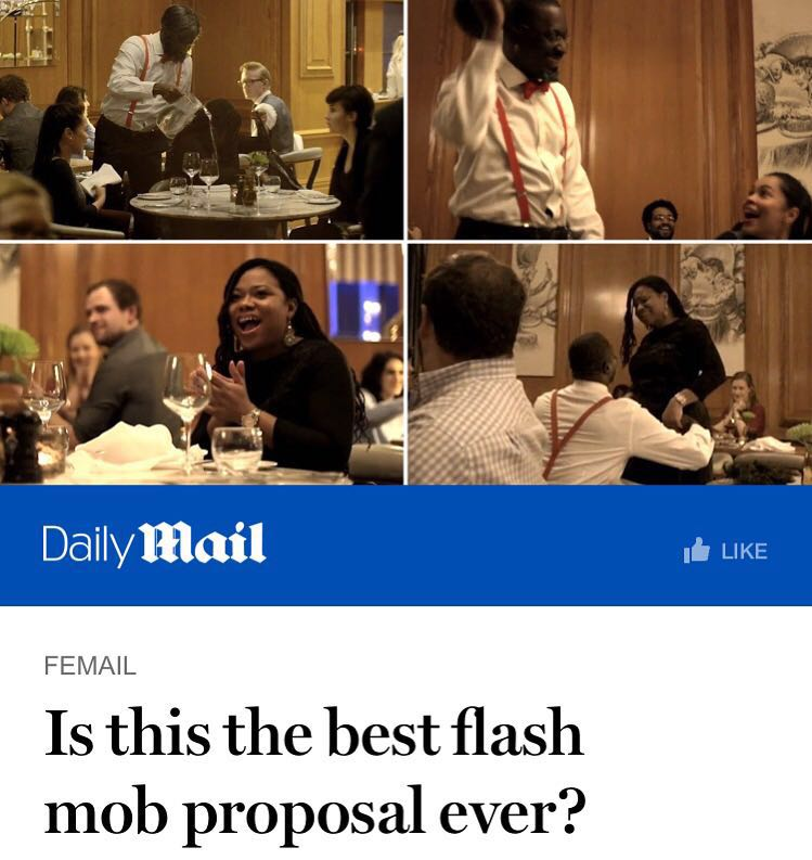 Flashmob Marriage Proposal Disguise Theatrical Make Up Artist